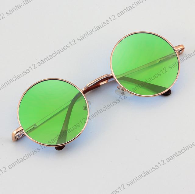 Gafas de sol redondas gafas steampunk vintage espejo for Espejo transparente