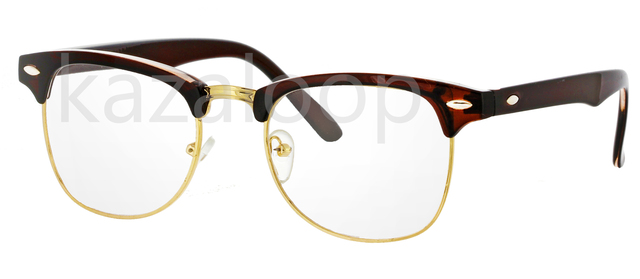 Clubmaster Clear Lens Glasses Fashion Fancy Dress ...